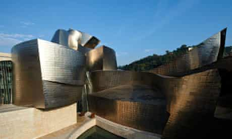 The Guggenheim in Bilbao … decidedly curvy.