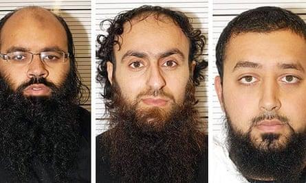 (From l) Irfan Naseer, 31, Irfan Khalid and Ashik Ali, both 27.