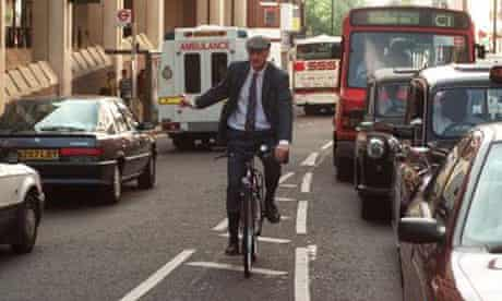 Sir George Young on his bike