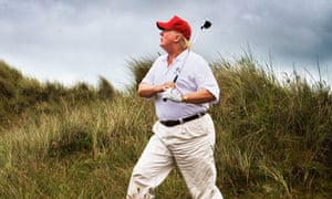 Donald Trump opens his golf course at Menie, north of Aberdeen.