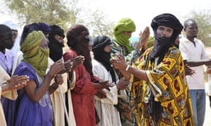 Malian Tuaregs at the Mentao refugee camp, north of Ouagadougou.