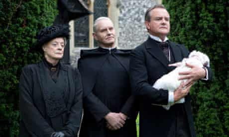 Love that baby … Violet and Lord Grantham