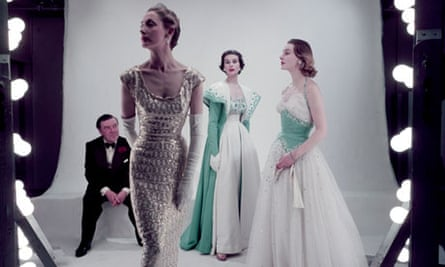 Detail from Norman Hartnell and models in Vogue, March 1953