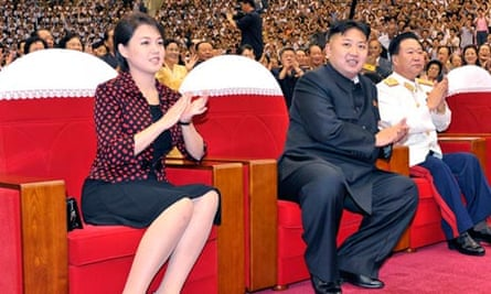 Ri Sol-ju (if that's really her name) with her husband Kim Jong-ul (if they're really married).