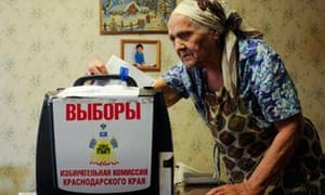 russian woman votes