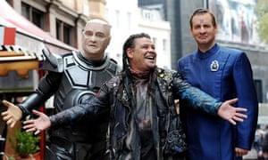 Red Dwarf's crew, Kryten, Lister and Rimmer return.