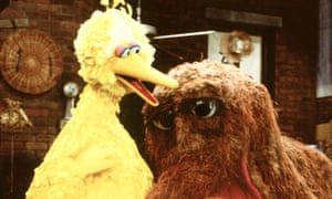 Big Bird and friend on Sesame Street