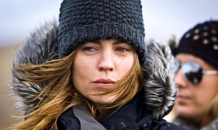 Hunted… Sam Hunter (Melissa George) is a spy for hire, as you can probably tell from the picture.