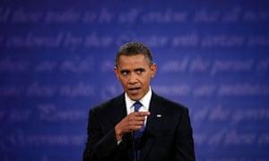 Barack Obama during the television debate
