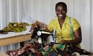 Alice Diaba, a seamstress in Ghana