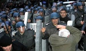 Azerbaijan riot police