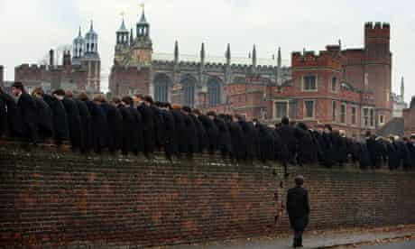 Eton pupils watch the Wall Game, 2007