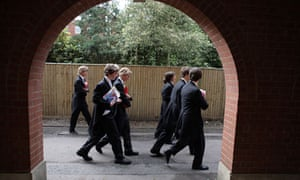 Eton pupils on their way to lessons, 2008