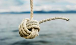 A nautical monkey knot