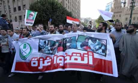 Protest in Egypt against Gaza attack
