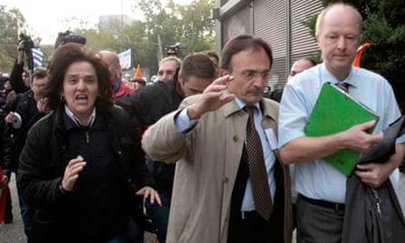 Protesters Break into German Conference Centere