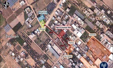 Underground Fajr 5 missile launch site in Zeitoun