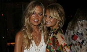 Stylist Rachel Zoe with Nicole Richie.