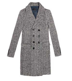 68113c75 Fashion buy of the day: Zara's herringbone coat for men. This double- breasted ...
