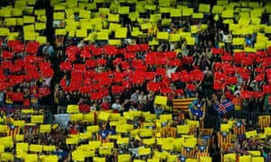 Catalan support at FC Barcelona