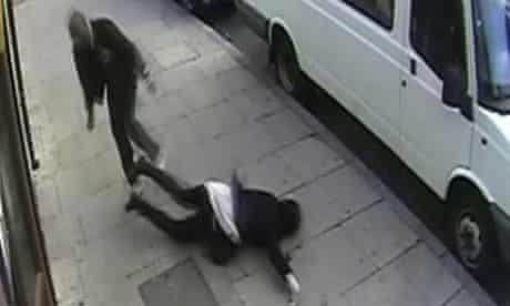 Girl assaulted filmed on CCTV