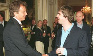 Tony Blair and Noel Gallagher