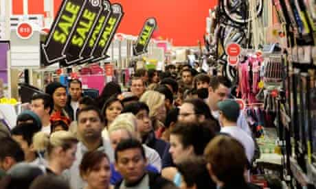 Burbank, California: A crowd of shoppers browse at Target on Black Friday