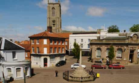 Fakenham Town centre Norfolk UK