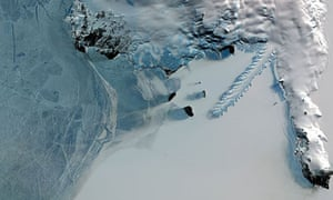 A tongue of ice in Antarctica