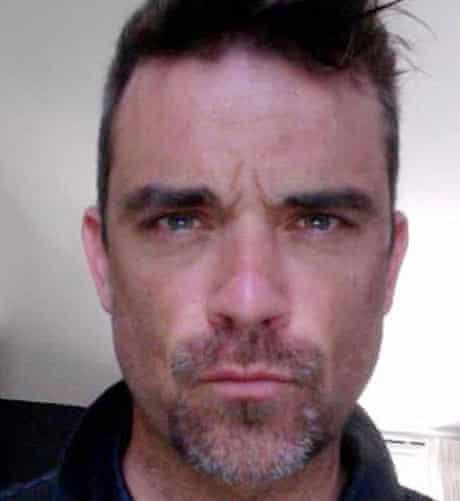 Robbie Williams with his beard
