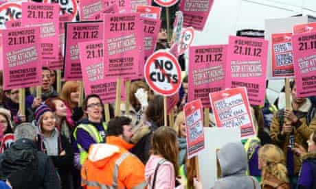 Students gather in London for a protest against increased tuition fees.