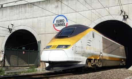 Channel tunnel Eurostar Eurotunnel train