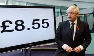 Boris Johnson announces the new London living wage rate at city hall.