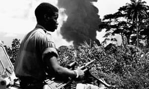 Soldier in Biafran war, 1968