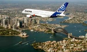 Plane over Sydney
