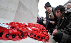 Britons observe a two-minute silence to mark Armistice Day
