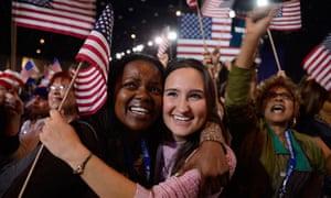 Obama supporters celebrate