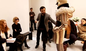 Nicolas Ghesquière in The September Issue:   Nicolas Ghesquière (centre) in The September Issue: