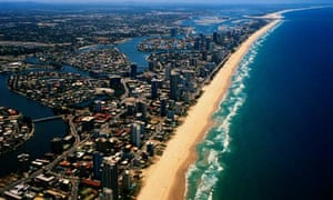 Aerial view of Queensland, Austraila
