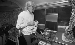 Jimmy Saville in his motor home in 1969