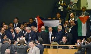 UN General Assembly grants upgraded status for Palestine, New York, America - 29 Nov 2012