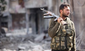 A Free Syrian Army fighter in Aleppo