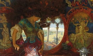 The Lady of Shalott (1886-1905) by William Holman Hunt