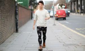 Patrick Kingsley takes to the streets in men's leggings