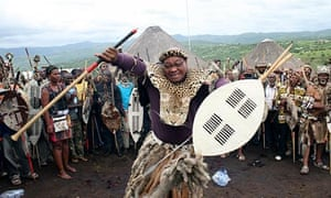 Jacob Zuma in a Zulu ritual to help him keep his leadership of the African National Congress.