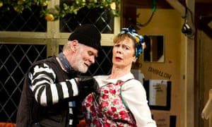 Karl Johnson and Celia Imrie in Noises Off by Michael Fraynat the Old Vic