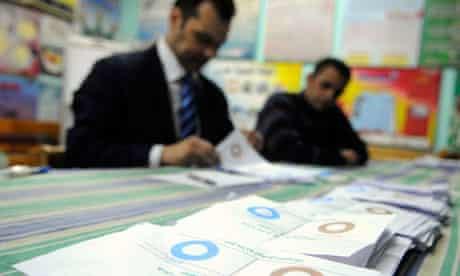 Egyptian officials count ballots