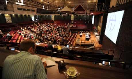 The General Synod at York voted against female bishops.