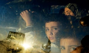 Children cross into Lebanon from Syria