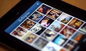 Instagram shown on an iPad